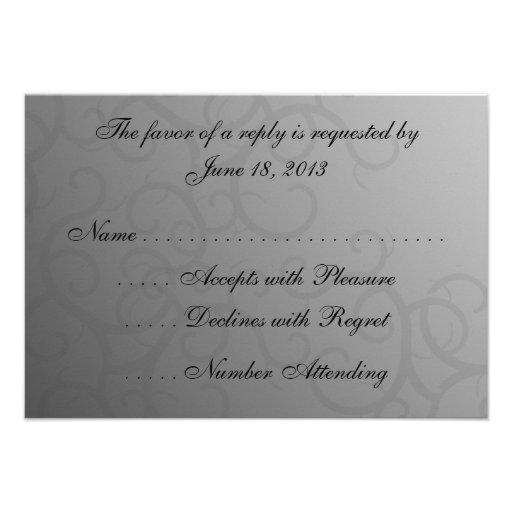 Enchanted Roses  RSVP Cards