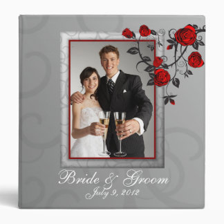 Enchanted Roses Wedding Photo Album Binder