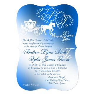 Enchanted Sapphire Blue Story Book Wedding Card