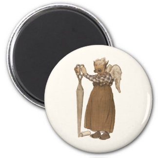 Enchanted Scissors Fairy 2 Inch Round Magnet