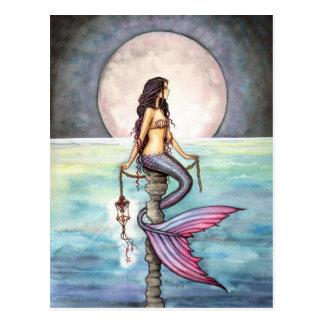 Enchanted Sea Mermaid Fantasy Art Post Card