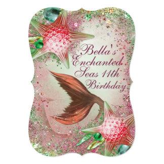 Enchanted Seas Mermaid Party Invitations