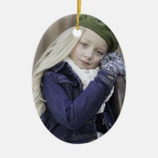 Enchanted Season Holiday Photo Year Ceramic Ornament