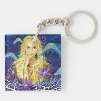 Enchanted Silence Double-Sided Square Acrylic Keychain