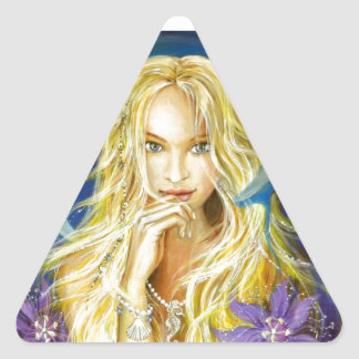 Enchanted Silence Triangle Sticker
