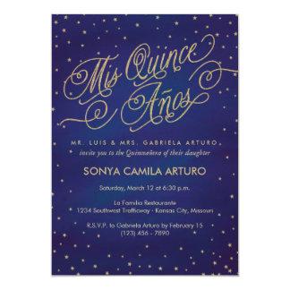 Enchanted Stars Quinceañera Invitation