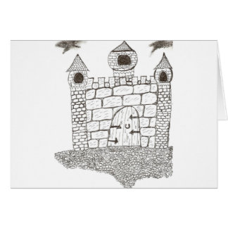Enchanted Stone Castle Greeting Card