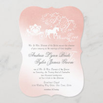 Enchanted Story Book Wedding Blush Pink Invitation