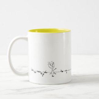 Enchanted Strawberries Two-Tone Coffee Mug