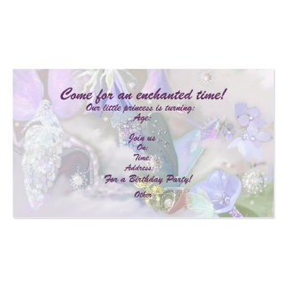 Enchanted time revised, template Double-Sided standard business cards (Pack of 100)