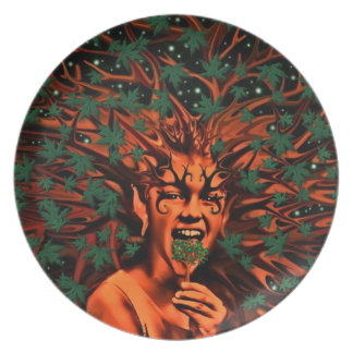 Enchanted Tree Sprite with leaves- Plates