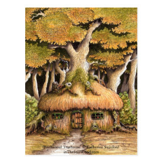 'Enchanted Treehouse' collectible postcard