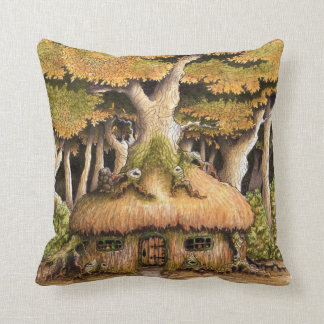 'Enchanted Treehouse' throw pillow