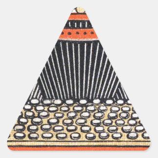 Enchanted Typewriter Triangle Sticker