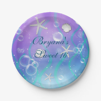 Enchanted Under The Sea Birthday Party Plates