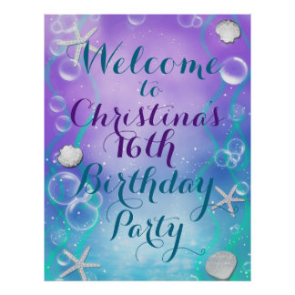 Enchanted Under the Sea Custom Party Banner Poster