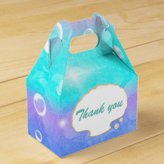 Enchanted Under the Sea Mermaid Party Favor Boxes