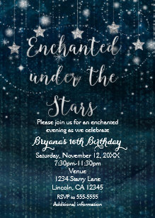 under the stars wedding invitations zazzle