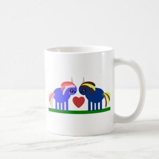 Enchanted Unicorn Falls in Love Coffee Mug