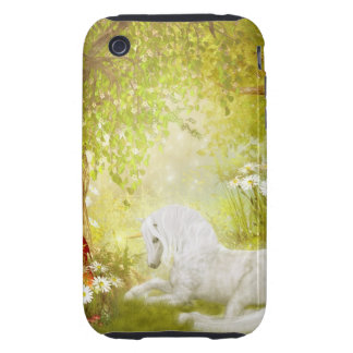 Enchanted Unicorn Forest Magical Kingdom Fantasy Tough iPhone 3 Cover