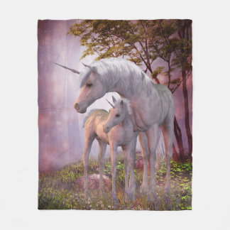 Enchanted Unicorns Fleece Blanket