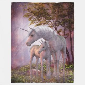 Enchanted Unicorns Large Fleece Blanket