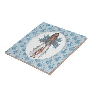 Enchanted Winter Faerie Felicia Ceramic Tile Small Square Tile