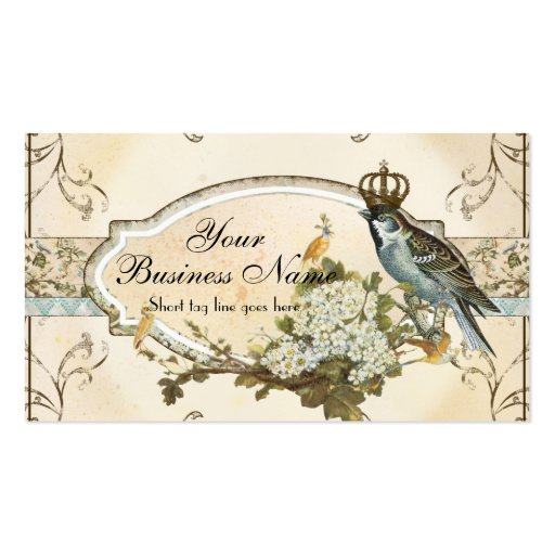 Enchanted Woodland Birds Advertising Businesses Business Cards