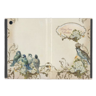 Enchanted Woodland Birds Dove Swirl Personalized iPad Mini Case