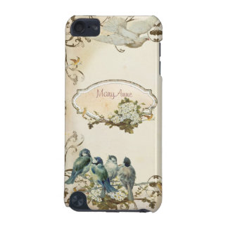 Enchanted Woodland Birds Dove Swirl Personalized iPod Touch 5G Case