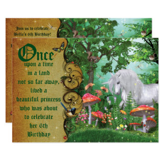 Enchanted Woodland Fairy Forest Party Invitation