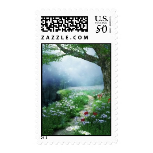 Enchanted Woodland Forest Wedding Postage