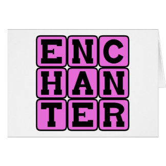 Enchanter, escuela del mago tarjeta de felicitación