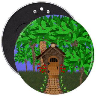 Enchanting Birdhouse Cottage Button