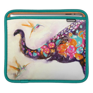 """Enchanting Friends"" Hummingbird & Elephant Sleeve For iPads"
