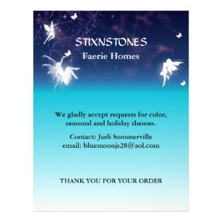 Enchanting Glowing Fairies Custom Letterhead