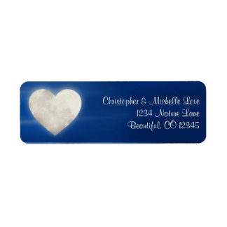Enchanting Heart Moon Address Label