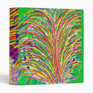 ENCHANTING  : Line Art Grass Bush 3 Ring Binder