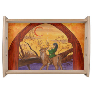 Enchanting Merlin As A Child - serving, treat Serving Tray