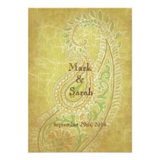 Enchanting Paisleys Wedding Invitation
