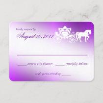 Enchanting Purple Fairy Tale Response Card