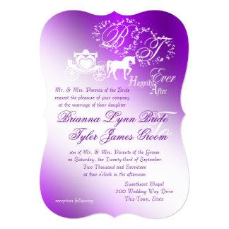 Enchanting Purple Fairytale Wedding Card