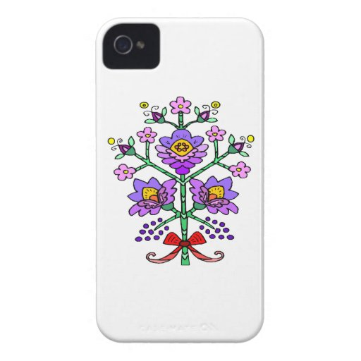 Enchanting Purple Flowers iPhone 4 Case-Mate Case