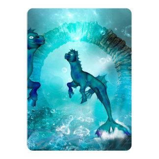 Enchanting seahorse card
