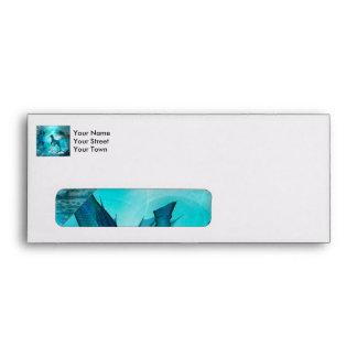 Enchanting seahorse envelope
