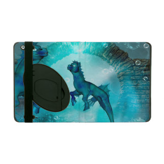 Enchanting seahorse in a fantasy underwater world iPad cover