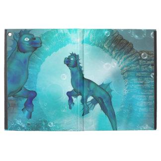Enchanting seahorse in a fantasy underwater world iPad pro case