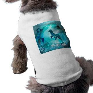 Enchanting seahorse in a fantasy underwater world tee