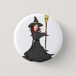 Enchanting Witch Pinback Button