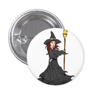 Enchanting Witch Pinback Button